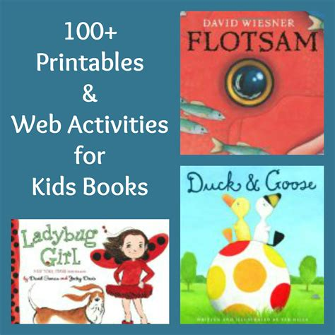 picture book activities 100 free printables activities for books free