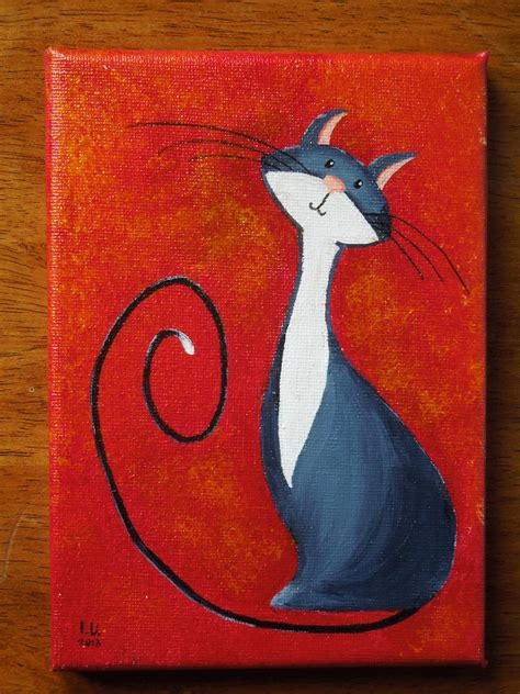 do cat painting look at my new cat painting virtuous cat in