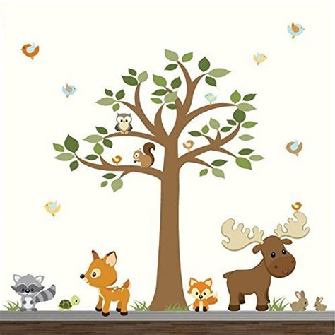 forest nursery wall decals wall decal wonderful ideas woodland animal wall decals