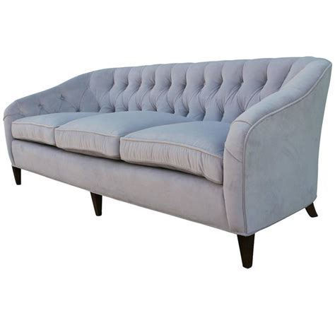 grey velvet tufted sofa glamorous tufted baker sofa in dove grey velvet mohair for