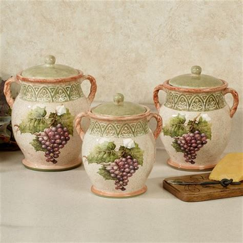 Kitchen Canister sanctuary wine grapes kitchen canister set