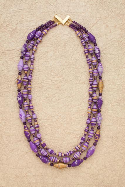 paper bead jewelry ideas boho bib style paper bead necklace