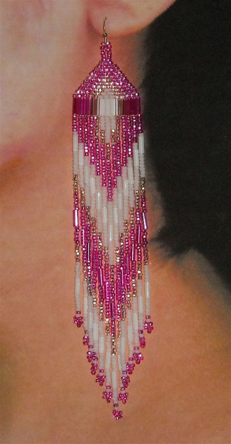 how to make american beaded earrings 17 best ideas about beaded earrings on seed