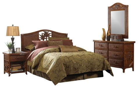 rattan bedroom furniture cancun palm tropical rattan and wicker 4 bedroom