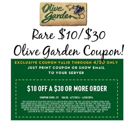 olive garden printable coupons 10 30 printable olive garden coupon