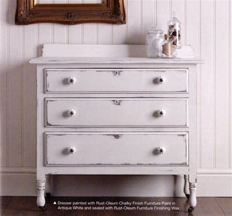 chalk paint finishes rust oleum antique white chalky finish furniture paint