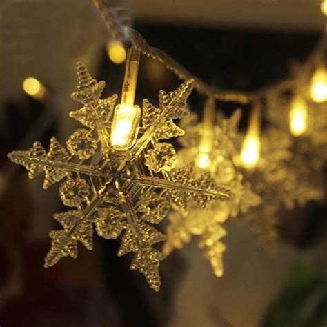 outdoor snowflake string lights 20m 200 luces de navidad new year snowflake led string
