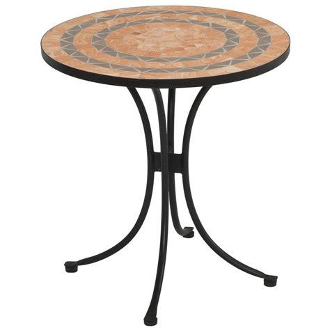 bistro patio tables terra cotta tile top outdoor bistro table 225048 patio