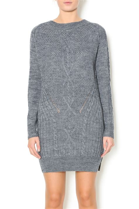 gray knit dress pink penguin grey knit sweater dress from west