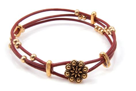 leather and bead bracelet diy 3 strand leather bracelet bead shop