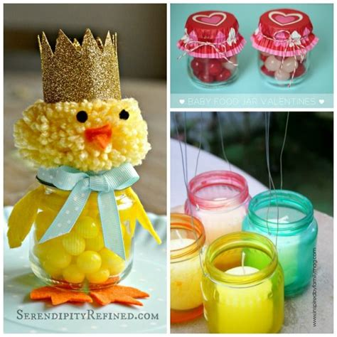 baby food jar crafts projects 17 best images about babyfood jars on jars