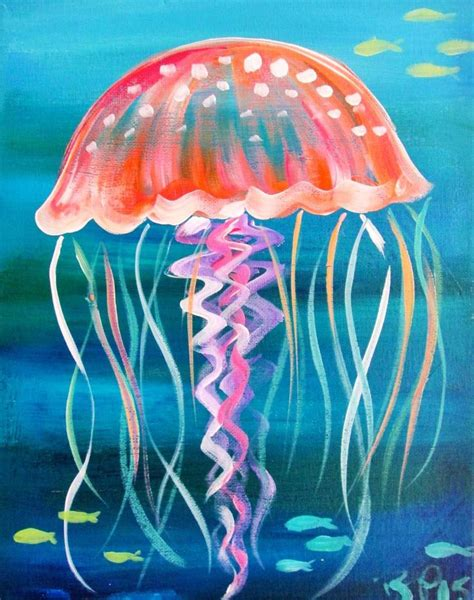 acrylic paint jellyfish 25 best ideas about jellyfish painting on