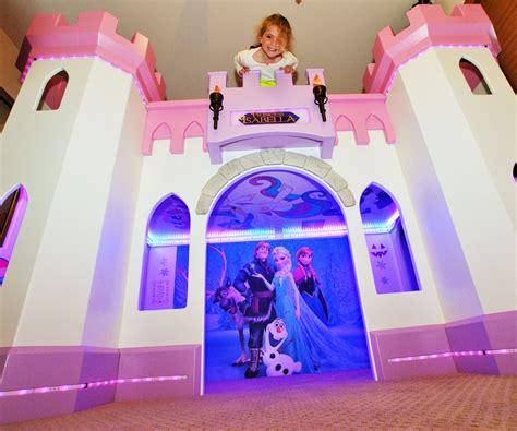 princess castle bunk beds bedroom attractive pink princess bunk bed for