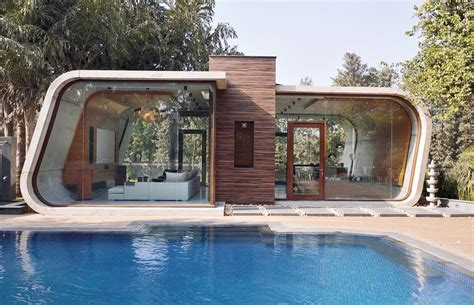 pool house 42mm architecture s sculptural pool house in india is