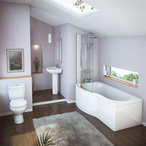 shower baths suites curved modern shower bath suite at plumbing uk