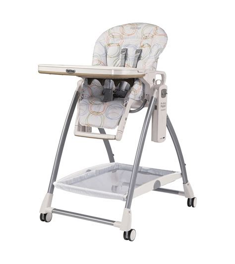peg perego 2010 prima pappa newborn high chair in circles color with upholstery defect