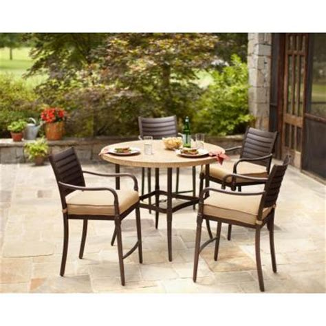 high patio dining set hton bay 5 patio high dining set with