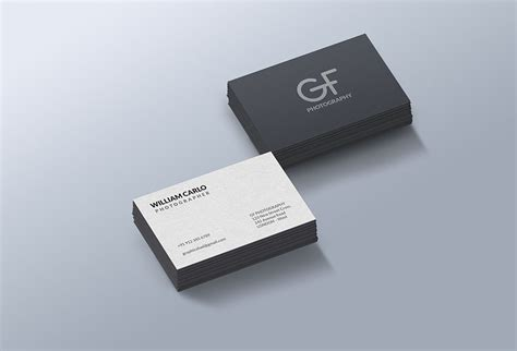 business card free photorealistic business cards mockup free psd at