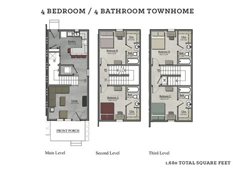 four bedroom townhomes 4 bedroom townhomes thraam