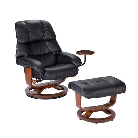 recliner with ottoman leather view larger