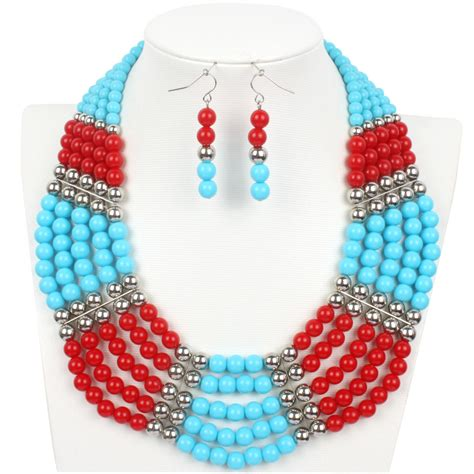 cheap bead necklaces bead necklace 2015 beaded fashion statement necklace