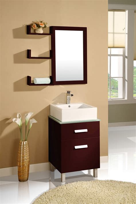 mirror shelf bathroom simple wood bathroom mirrors with shelves and small