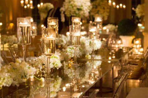 gold and white decorations lavish white gold country club wedding in houston