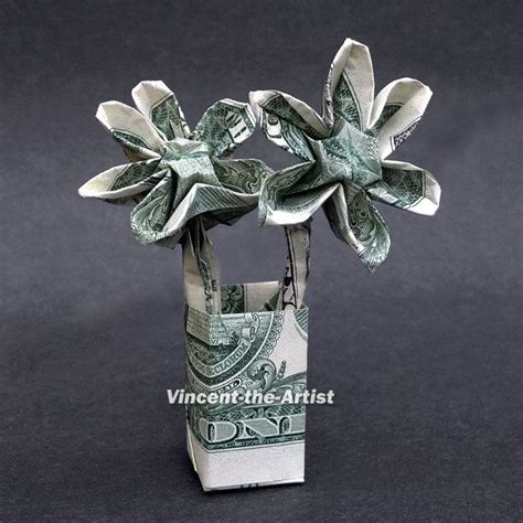origami dollar flower dollar origami flowers money dollar origami