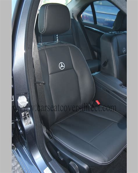 Mercedes Seats by Mercedes C Class W204 Black Leatherette Seat Covers
