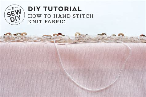 How To Stitch Knit Fabric Sew Diy