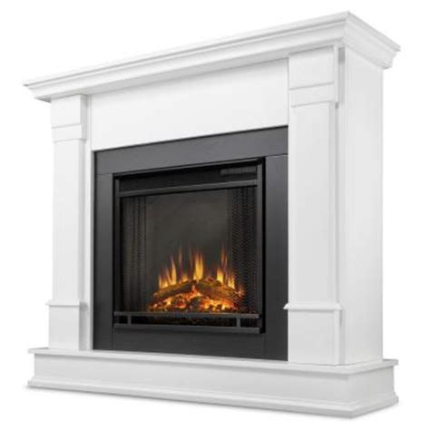 Home Depot Electric Fireplaces real flame silverton 48 in electric fireplace in white