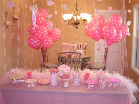 pink decorations pink 1st birthday decorations food