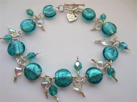 blue beaded bracelet teal blue glass bracelet teal blue indian glass teal