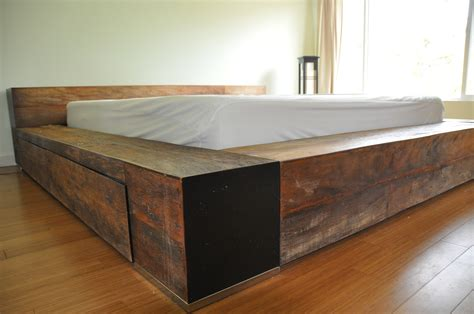 side bed frames classic brown wooden bed frame with drawers and brown