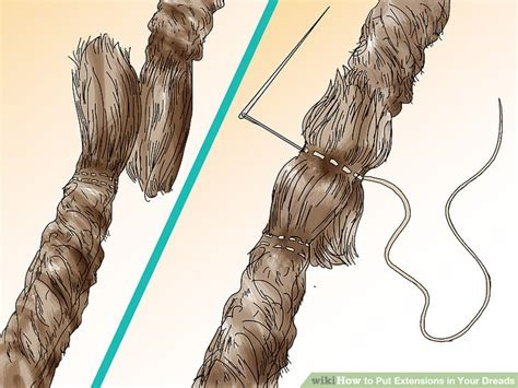 how to put dread on how to put extensions in your dreads 15 steps with pictures