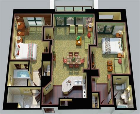 marriott grand chateau 2 bedroom villa floor plan marriott s koolina club oahu vacation