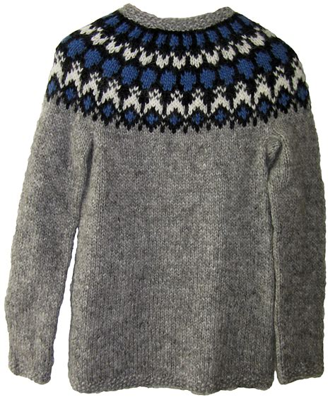 knitted jumper islina garn och design islina yarn and design grey