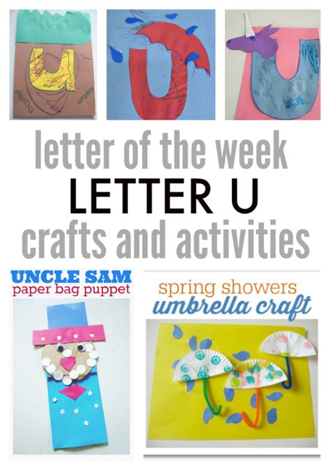 crafts activities for letter of the week letter u crafts and activities no