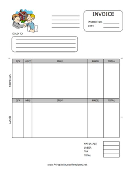 property management invoice template