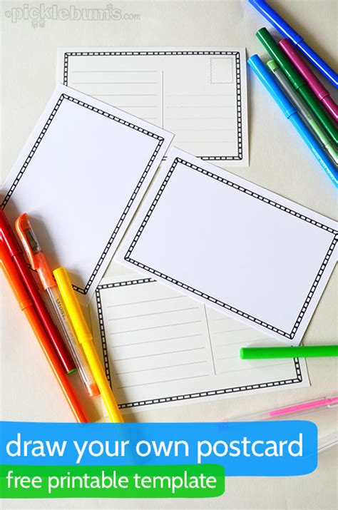 make your own cards free templates draw your own postcard postcard template postcards and