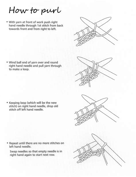 how to knit how to knit