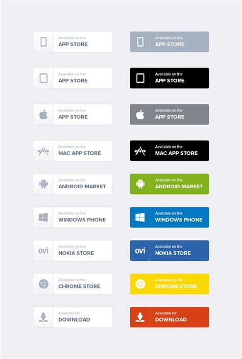 free app 35 free flat photoshop psd buttons