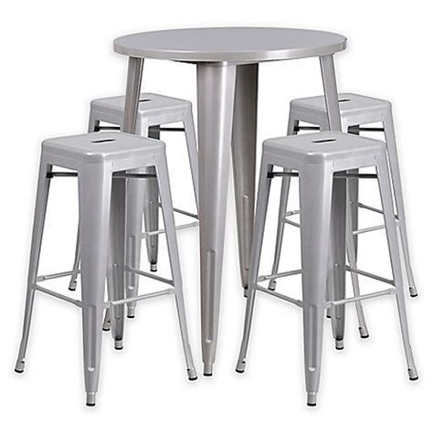buy flash furniture 5 30 inch metal bar table