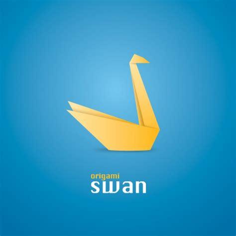 swan origami origami swan vector free