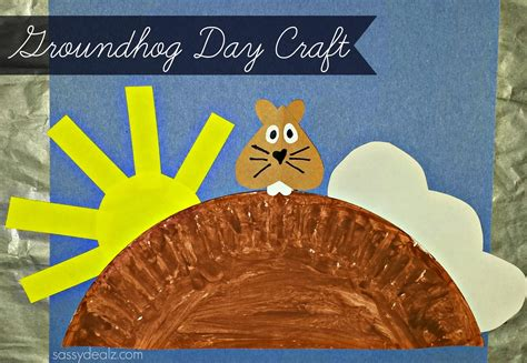 Groundhog Day Craft For Paper Plate Crafty Morning