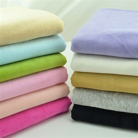 sewing cotton knit fabric stretchy warm velvet cotton knitted fabric by half meter