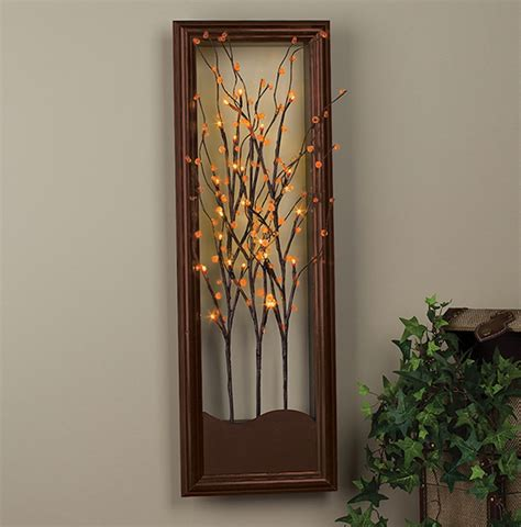lighted tree wall hanging collection wall tree lighted pictures best