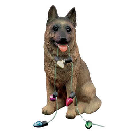 german shepherd ornament german shepherd with lights ornament baxterboo