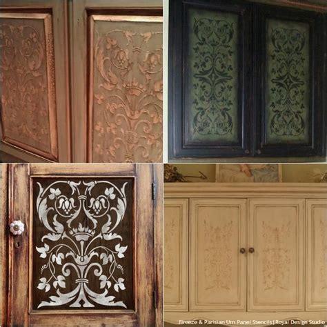 kitchen cabinet doors ideas 20 diy cabinet door makeovers with furniture stencils