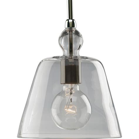home depot pendant lights progress lighting polished nickel 1 light pendant the